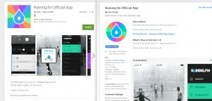 The new raining.fm app has launched on itunes and the Google Play store